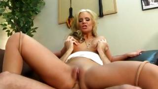 Bewitching yellowish haired has her slit screwed and slammed