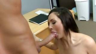 Sexual brown-haired blown her sexual intercourse target