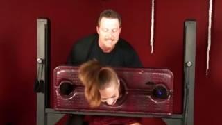 Mad BDSM sex with charming little slut