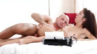 Jewish-looking babe fucked by a bald fellas movie