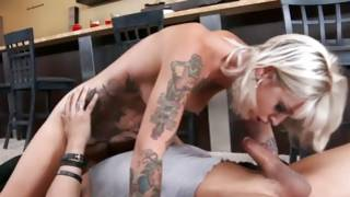 Tattooed little one agreeing babe is used harshly by her superiour