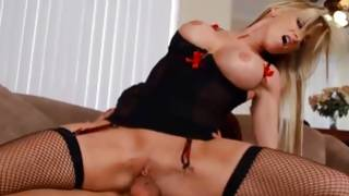 Sexy clothed buxom GF collects passionately twisted on a sweetmeat