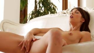 Watch this hot ex girlfriend putting her gentle fingers right into her pussy