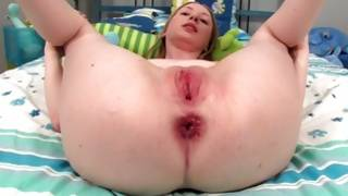 Red haired beast with pale skin and red sexy holes is screwed by her bf