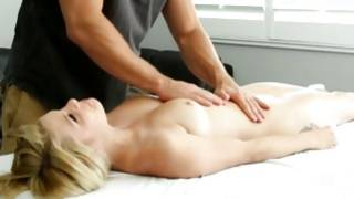 Shy unordinary girl got her massaged