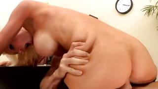 Sandy colored skank and a heavy cock in her throat