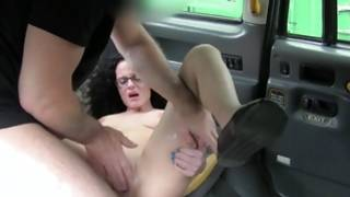 Shy bitch behaving aroused with gross cock