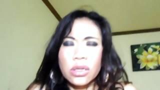 Deepthroating thai prostitute holds fucked intense in pov
