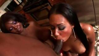 Bawdy dark-skinned fucking with extremely steamy black babes