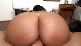 Bum latin miss brutally group-fucked on pov cam