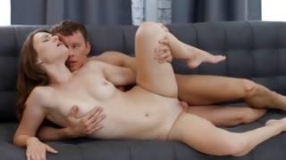 Exciting infant pair has libidinous sex on sofa
