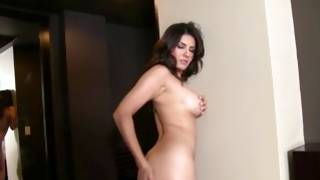 Beautiful doxy posing and fingering ambrosial wet crack