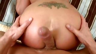 Buxom bright-haired with tiny hands is handjobbing to her male with great rod