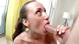 Russian miss with deep mouth is having a fuck with her boy