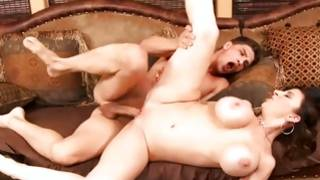 Busty MILF found her stiff stepson unique and stripped