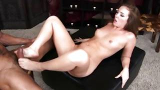 Dirty prostitute with unshaved cunt is fucked on a narrow chair
