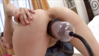 Marvelous infant doxy playing with notable sex toys