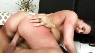 Hungry Horny floosie takes a sugar-plum in her face hole and cunt