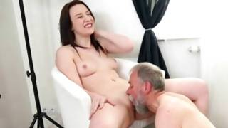 Extensively sensuous gal is worked by granddad