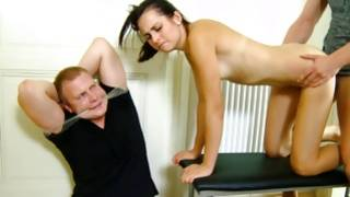 Gracious dark-haired whore drilled in from behind