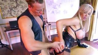 Harlot in latex admires dirty sex with her boyfriend