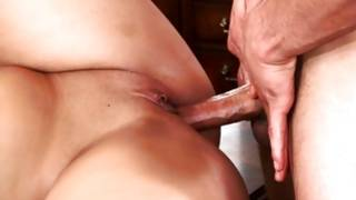 Arousing and sweet slut with deep cavity is making his dick vanish in it SEXY TEEN