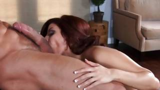 Lasciviousness with tough pumped dude and red haired sluttish girl
