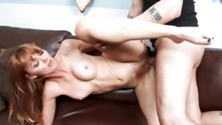 Available and unusual charming girlfriend is having fun with her beast