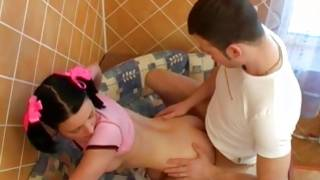 Diaper lover brunette strumpet hammered in heavenly cum-hole